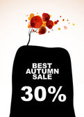 Autumn discount sale — Stock Vector