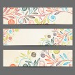Banner with floral pattern — Stock Vector #14678375