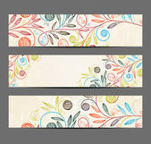 Banner with floral pattern — Vecteur