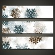 New Year banner with snowflakes — Stockvektor