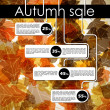 Autumn discount sale - Stock Vector