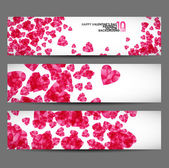 Banner with hearts valentine — Stock Vector