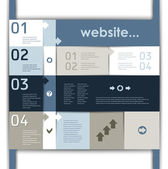 Lay-out voor de website en infographics — Stockvector