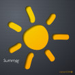 Vector de stock : Summer icon