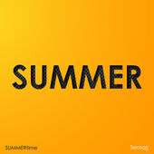 The word summer — Stock Vector