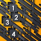 Infografía moderna, elementos de diseño realista — Vector de stock