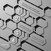 Moderní infographic, realistické prvky — Stock vektor