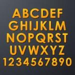 conjunto de alfabeto — Vetorial Stock