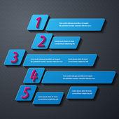 Infográfico moderno — Vetor de Stock