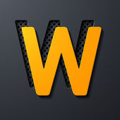 Letter W — Stock Vector