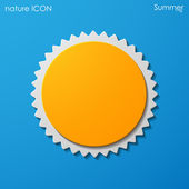 Summer sun icon — Stockvector