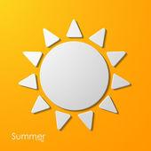 Summer sun icon — Vecteur
