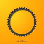 Summer sun icon — Stock Vector
