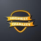 Icon quality — Stock Vector