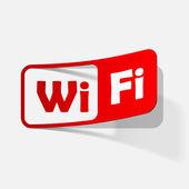 Free Zone wi-fi, sticker — Stock vektor