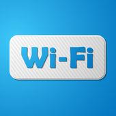 Free Zone wi-fi, sticker — Stok Vektör