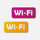 Free Zone wi-fi, sticker — Stockvektor