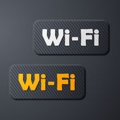 Free Zone wi-fi, sticker — Vector de stock