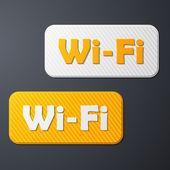 Freizone wi-fi, aufkleber — Stockvektor