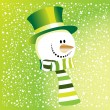 The green snowman — Stok Vektör
