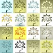 Set of trees — Imagen vectorial