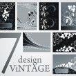 Set of Vintage Floral Frame — Stock vektor