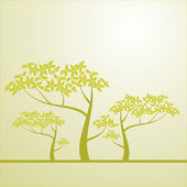 Background with a tree — Stock Vector