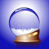 Kış küre — Stok Vektör