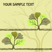 一棵树与背景 — 图库矢量图片