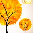 Autumn tree — Stockvectorbeeld