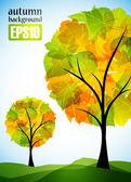 Drzewo jesień — Wektor stockowy