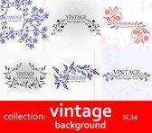 Samling vintage bakgrund — Stockvektor