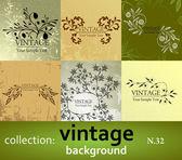 Fondo vintage collection — Vector de stock