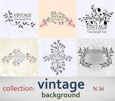 Collectie vintage achtergrond — Stockvector