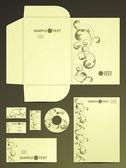 Set di elementi decorativi — Vettoriale Stock