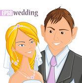Wedding, vector illustration — Stock Vector