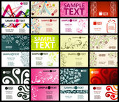 12 tarjetas horizontales, dos lados — Vector de stock