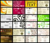 12 の水平ビジネス カードは、2 つの側面 — ストックベクタ