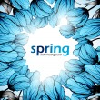 Spring flowers background — Stock vektor #34010497