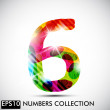 Number six — Stock Vector #34010871