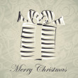 Gift christmas box card  — Image vectorielle