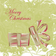 Gift christmas box card — Vektorgrafik