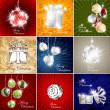 Christmas card set — Image vectorielle