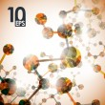 Dna molecule, abstract background — Stock Vector
