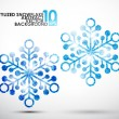 Festive snowflake set — Stock Vector