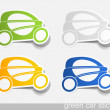 Eco car, realistic design elements — Stock Vector #34012987