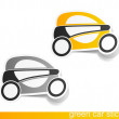 Eco car, realistic design elements — Stock Vector