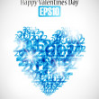 Heart, valentine background — Imagen vectorial