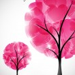 Valentine tree — Stock Vector #34013709