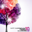 Valentine tree — Stock Vector #34013713